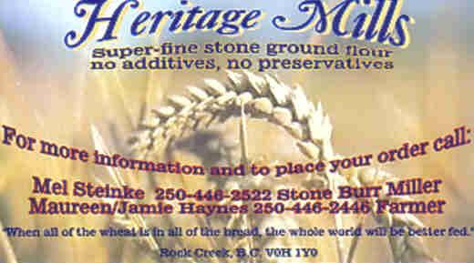Heritage Mills Business Card