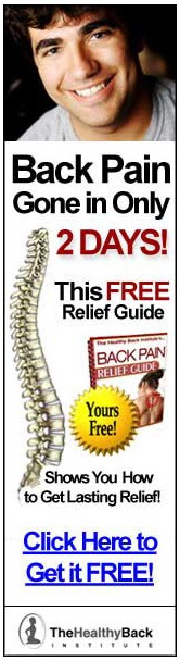 low back pain gone