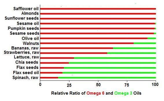 Omega 3 and 6 oils
